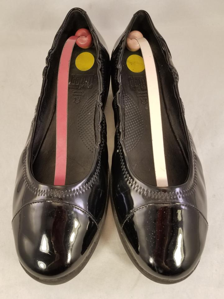 0dfac7b8e877 FitFlop Patent Leather Ballet Woman Size 10 BLACK Flats Image 7. 12345678