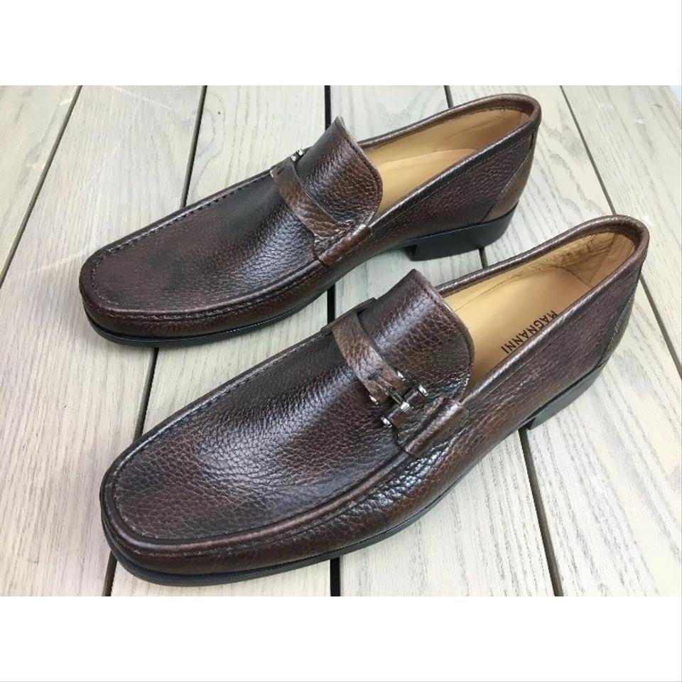 e7326290778 Magnanni New Never Used Camargo Brown Pebbled Loafers M (17536) Formal Shoes  Size US 10.5 Regular (M