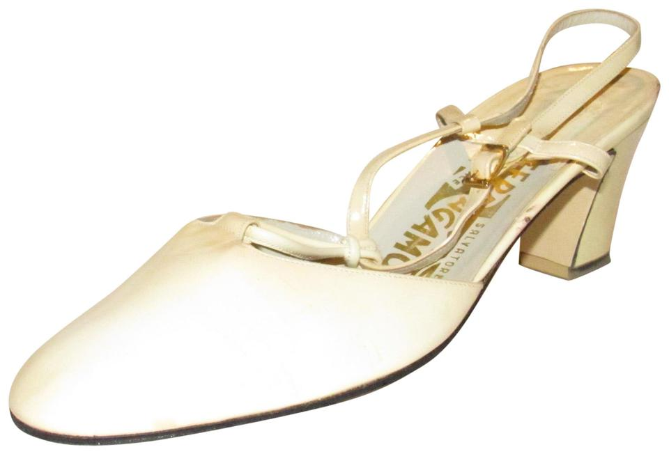 67982e72c0ec6 White Salvatore Ferragamo Pumps - Up to 90% off at Tradesy