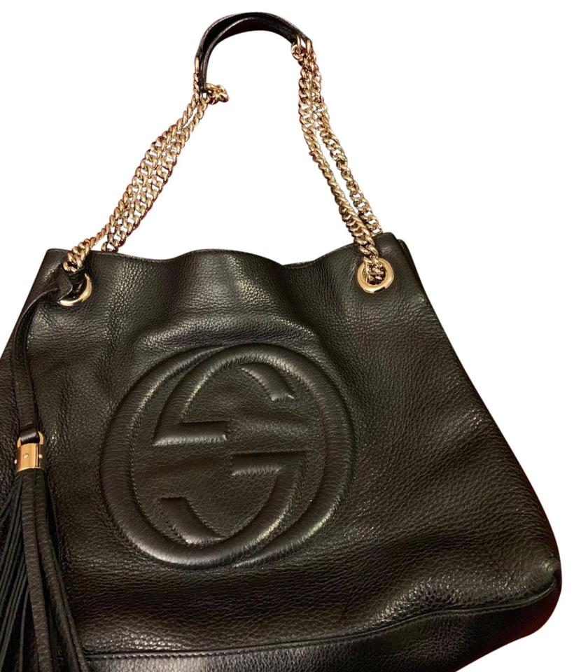 35821a7e45971 Gucci Soho Shoulder Medium Black Hobo Bag - Tradesy