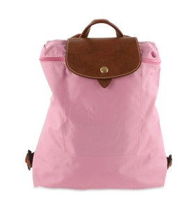 Longchamp Nylon Leather Gold Hardware Backpack
