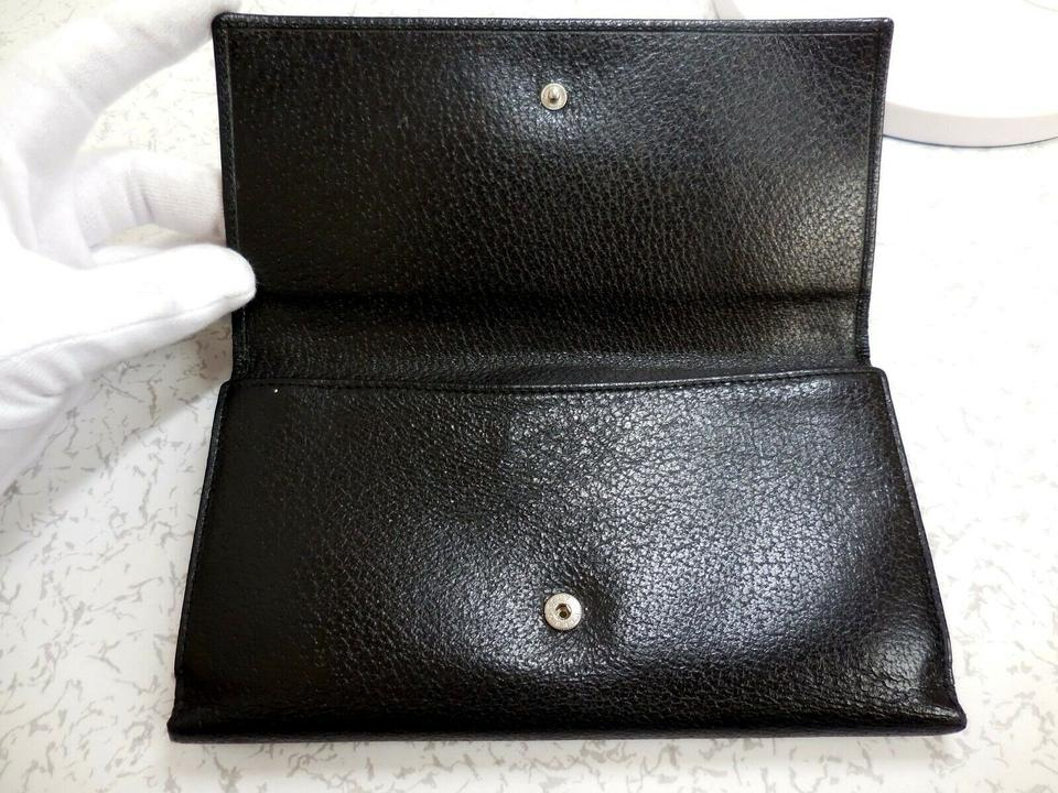 415ff33cabb4 Gucci Black Leather with Large Square G Center XL Tom Ford Era ...