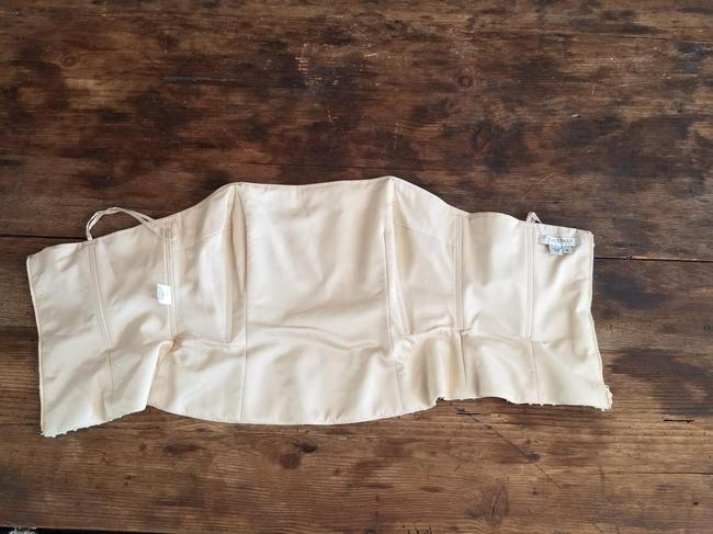 Kay Unger Bustier Wedding Beaded Sequin Ivory Bustier Wedding Outfit Top Cream and Peach Image 3