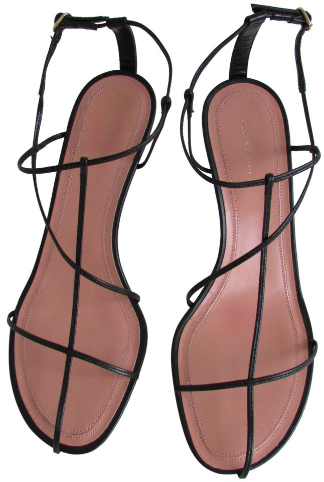 790e4f11148a3 Céline Black Cage Nude Thin Strap Sandals Size EU 40 (Approx. US 10)  Regular (M, B)