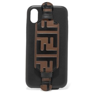 Fendi logo embossed leather iPhone X case cover