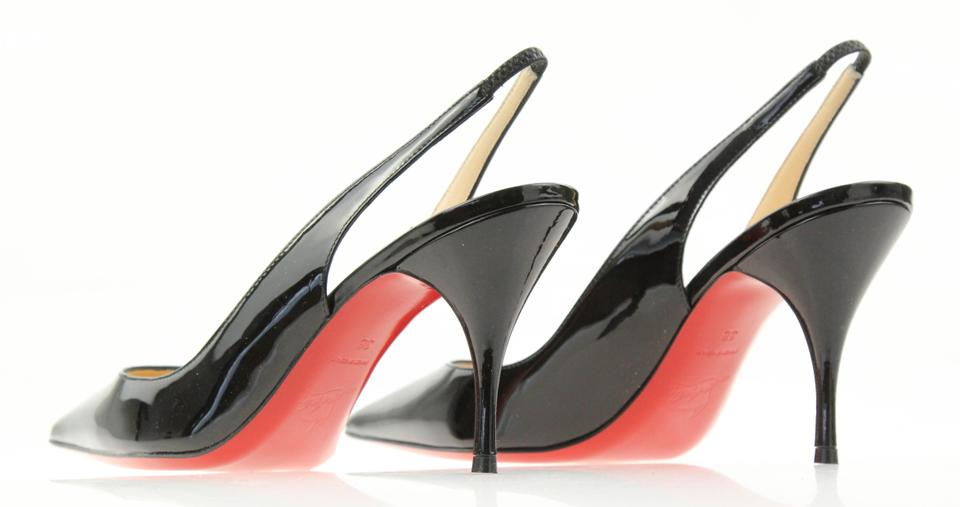 238aed818b3 Christian Louboutin Black Clare 80 Patent Leather Slingback Pumps Size EU  38 (Approx. US 8) Regular (M, B)