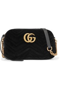 Gucci Velvet Gg Marmont Shoulder Bag