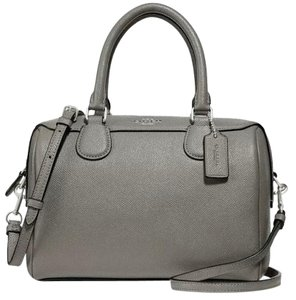 7b2c40e3a4902 Coach Bennett Mini Heather Grey Satchel - Tradesy