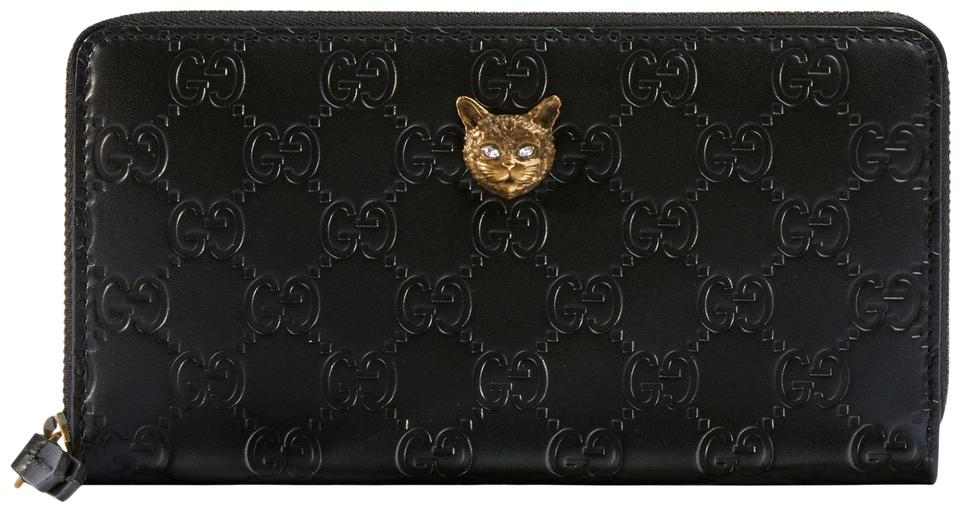 7ad5569a8b763d Gucci NEW Gucci Signature zip around wallet with cat. Cruise 2019  collection Image 0 ...