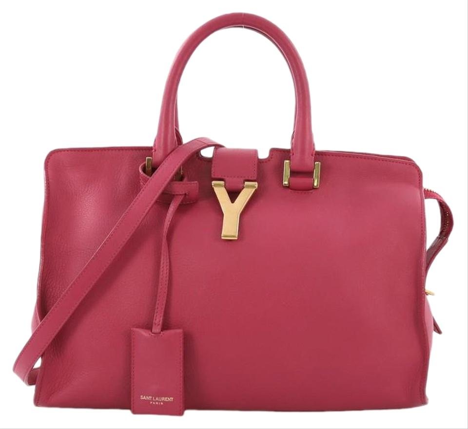 f1e2ebb278ed Saint Laurent Classic Y Cabas Small Pink Leather Tote - Tradesy