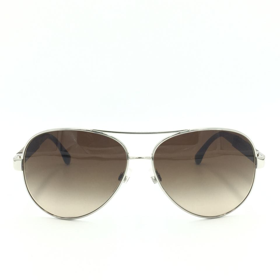 49f4125be579 Chanel Silver Translucent Leather Brown Aviator Gradient 4195-q C ...