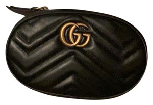 2313f332192 Added to Shopping Bag. Gucci Cross Body Bag. Gucci Marmont Crossbody Belt  Black Leather ...