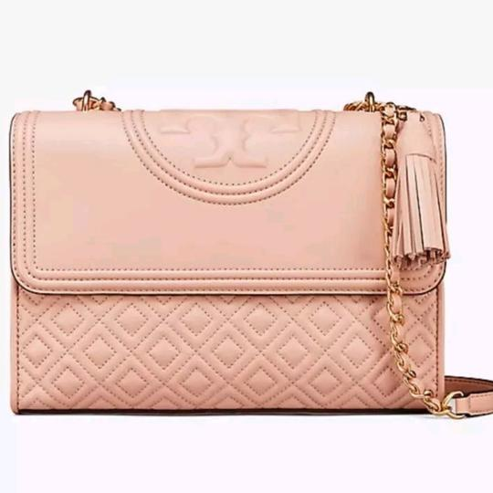 1933fd1fa53 Tory Burch Fleming Convertible New Mink Quilted Leather Shoulder Bag ...