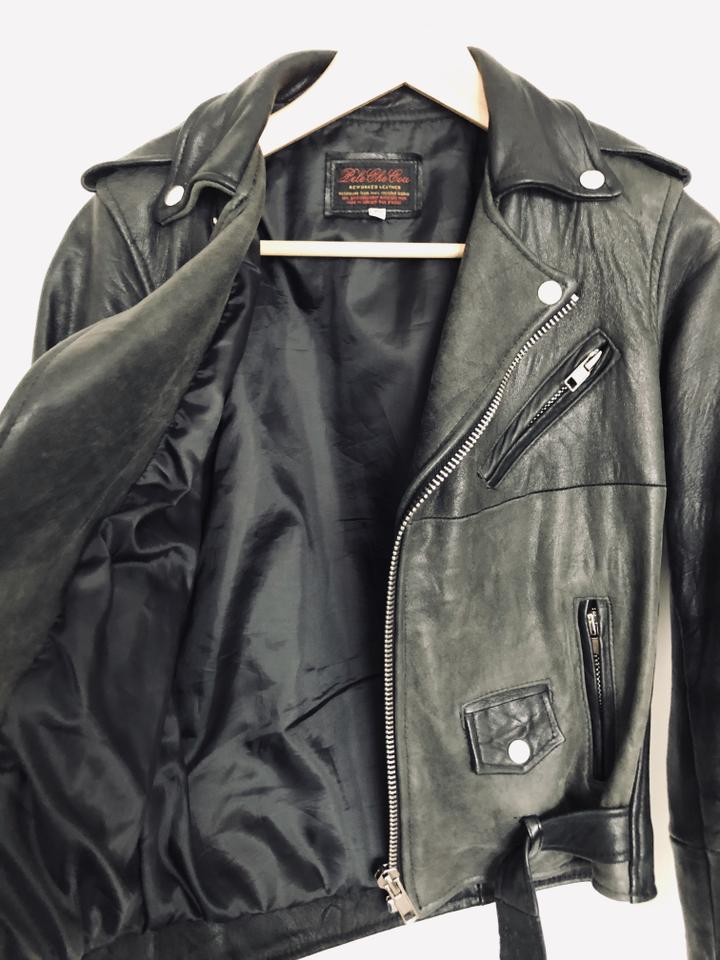 945aed8a3be7c PeleCheCoco Vintage Biker Recycled Sustainable Leather Jacket Image 10.  1234567891011