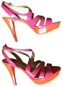 Guess By Marciano Pink and Orange Platforms