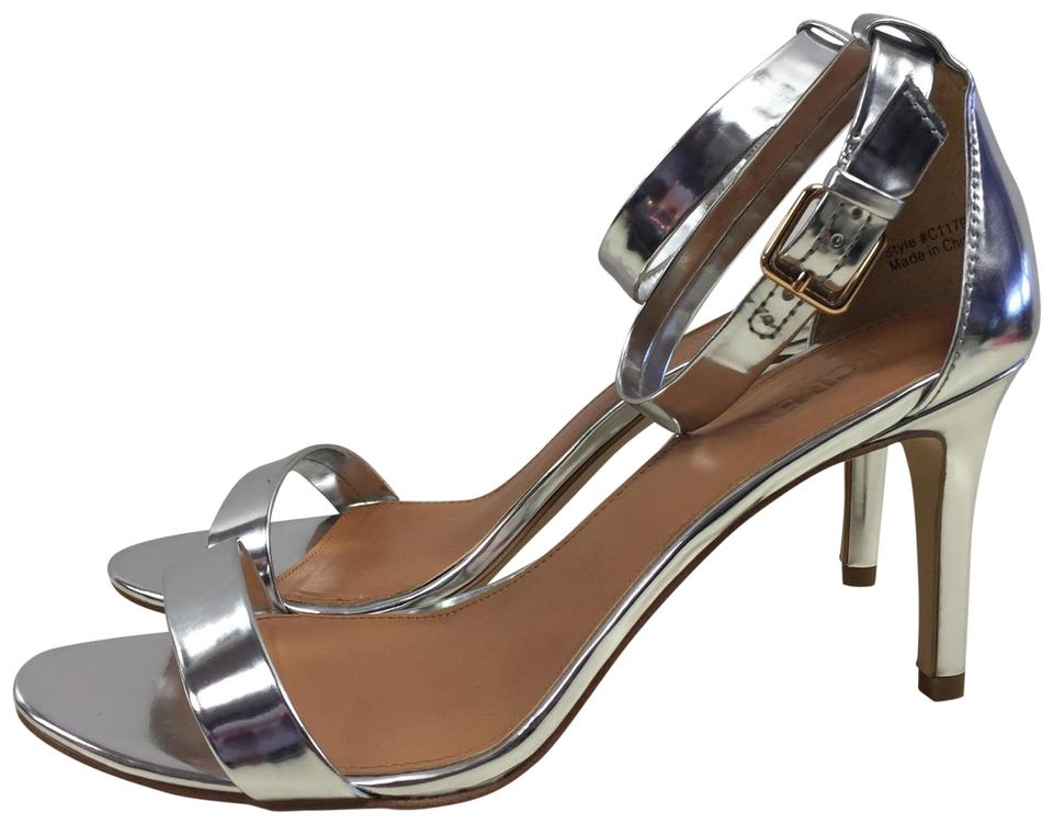 59bf77d052f J.Crew Silver Metallic High Heel Sandals Formal Shoes Size US 9 ...