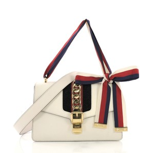 0da30e52290 Added to Shopping Bag. Gucci Leather Shoulder Bag. Gucci Sylvie Small White  ...