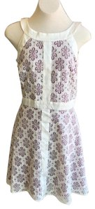 R&K Originals short dress Purple, White on Tradesy