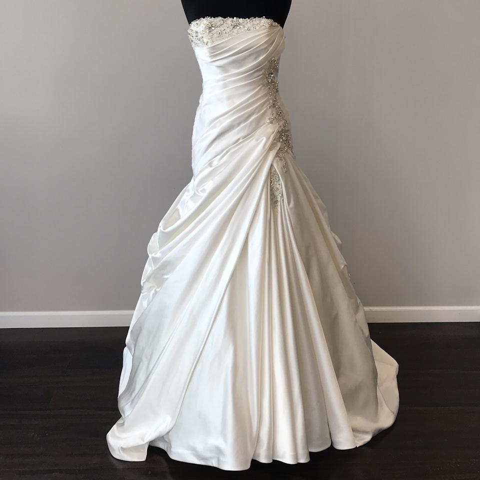 Cost Of Sophia Tolli Wedding Gowns: Sophia Tolli Ivory Satin Formal Wedding Dress Size 6 (S