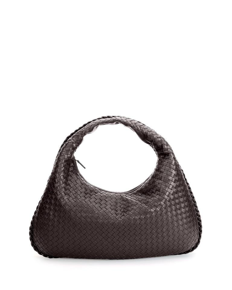 a179cbbd21cf Bottega Veneta Intrecciato Woven B03286543g Dark Brown Lambskin Leather  Hobo Bag