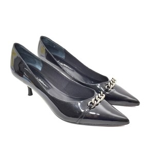 Beverly Feldman Black & Silver Pumps