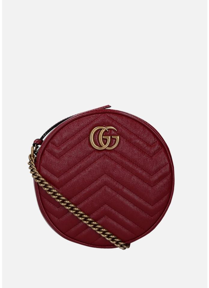 8ddf601968a7 Gucci Marmont Shoulder Red Leather Cross Body Bag - Tradesy