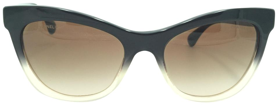 f8413db47c8 Chanel Chanel Cat Eyed Beige and Black Sunglasses 5350-A 1557 S5 ...