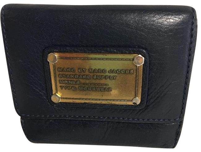 Item - Wallet Navy Blue Leather Clutch