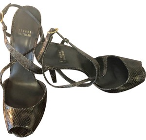 Stuart Weitzman charcoal grey Sandals