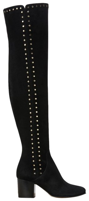 Item - Black Thigh High Over The Knee Studded Suede Boots/Booties Size EU 41 (Approx. US 11) Regular (M, B)