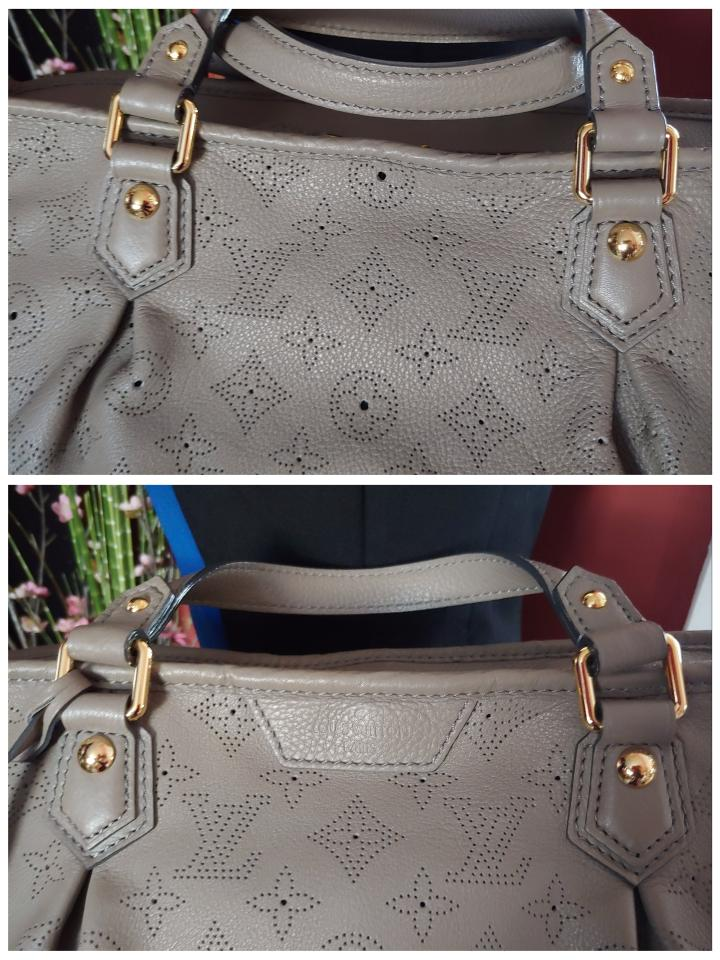 Louis Vuitton Mahina Super Pretty Stellar Pm Poudre Gray Leather Satchel -  Tradesy 24269e2663841