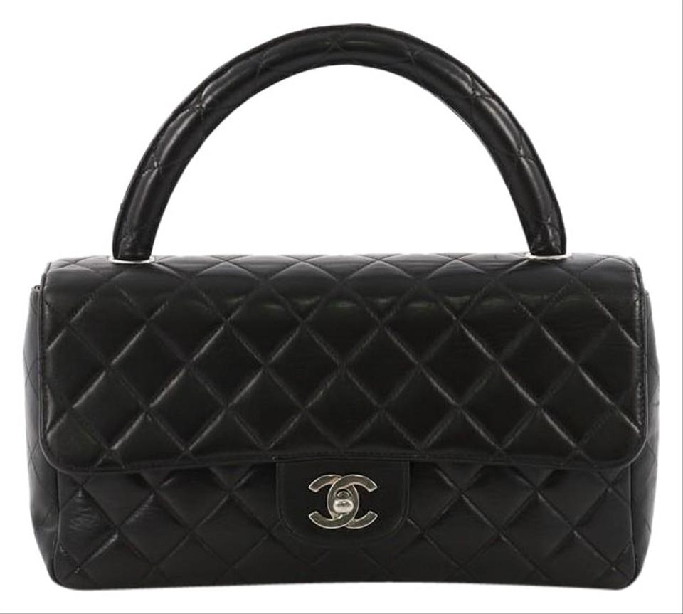 9b8e404d4e5e Chanel Bag with Classic Flap Vintage Twin Top Handle Quilted Medium ...