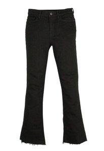AllSaints Raw Hem Boot Cut Zoe Capri/Cropped Denim-Dark Rinse