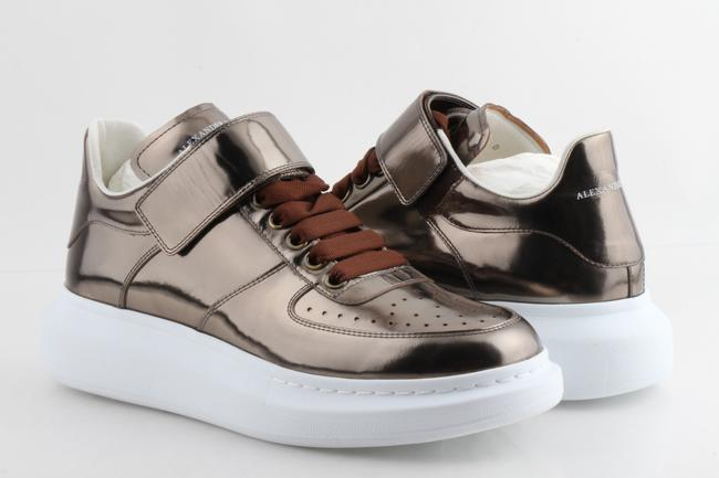 Item - Bronze Oversized Strap Sneakers Shoes