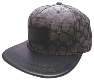 849e42ff1fe Coach BRAND NEW MEN S COACH (F33776) FLAT BRIM SIGNATURE BLACK ADJUSTABLE HA