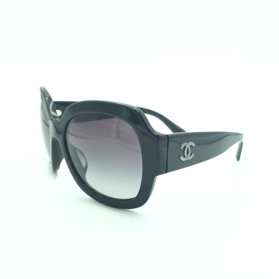 f5658990cc5 Chanel Chanel Butterfly Oversized Black Sunglasses 5373-A 501 S6 Image 0 ...