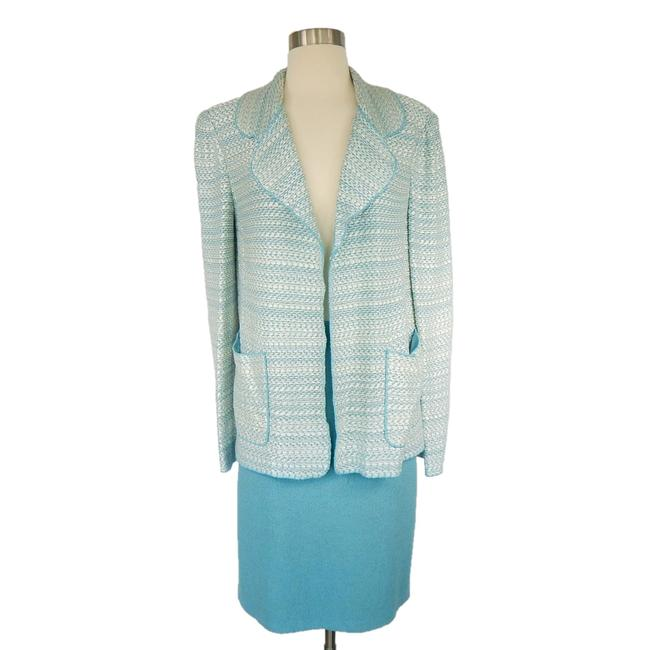 Item - Aqua White & Skirt Suit Size 8 (M)