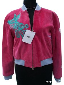 Donald J. Pliner Pink Leather Jacket
