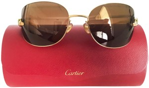 b21d7c35f4b Cartier Limited Edition Cartier Panther frame with green eye stones  goldframe