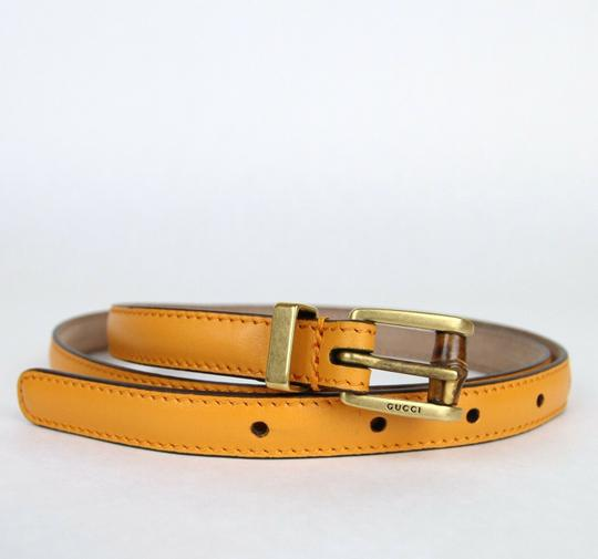 Gucci New Authentic Gucci Women Belt w/Bamboo Buckle Size 80/32 339065 7804 Image 2