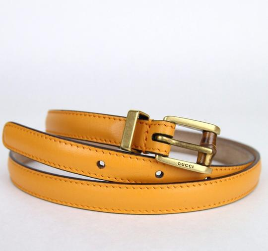 Gucci New Authentic Gucci Women Belt w/Bamboo Buckle Size 80/32 339065 7804 Image 3