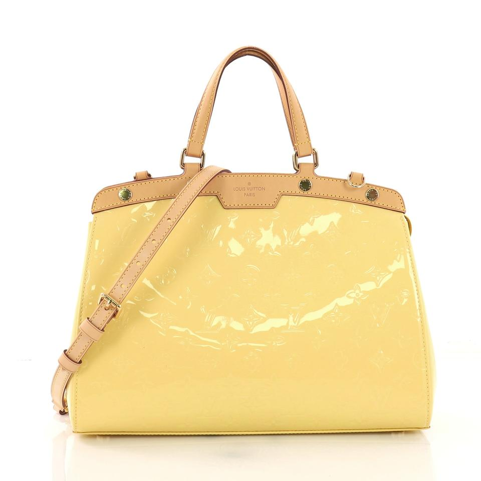 a573971e0b963 Louis Vuitton Brea Handbag Monogram Vernis Mm Yellow Leather Shoulder Bag