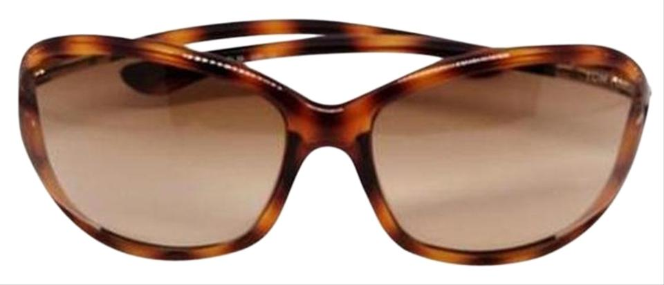 212d9d2183d8 Tom Ford Women Oval Sunglasses Plastic Frame with Brown Gradient Lens Image  0 ...
