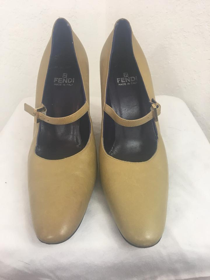 06e2cc4b08a Fendi Yellow Gold Wedges Size EU 38.5 (Approx. US 8.5) Regular (M