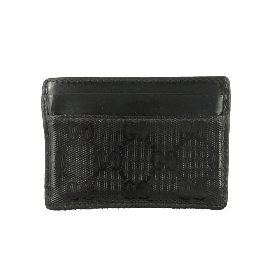 e48f8308cf6f Gucci Black Monogram Card Holder Wallet - Tradesy