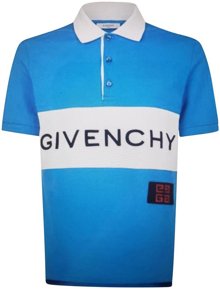 Givenchy Multicolor Blue White Embroidered Logo Polo Tee Shirt Size 16 (XL,  Plus 0x) 58% off retail