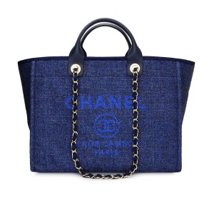 1670bc17b806 Chanel Deauville Blue Tote in Jeans