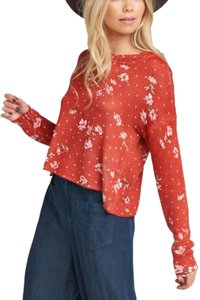Show Me Your Mumu Crop Boho Bohemian Floral Sweater