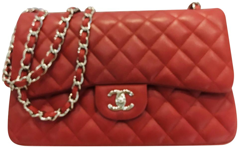 807d6c62aff5 Chanel Classic Caviar Quilted Jumbo Double Flap Rec Leather Shoulder ...