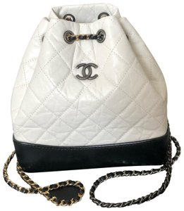 d0298e0bfd2a Chanel Gabrielle Backpack Small Navy Blue / Black Leather Backpack ...